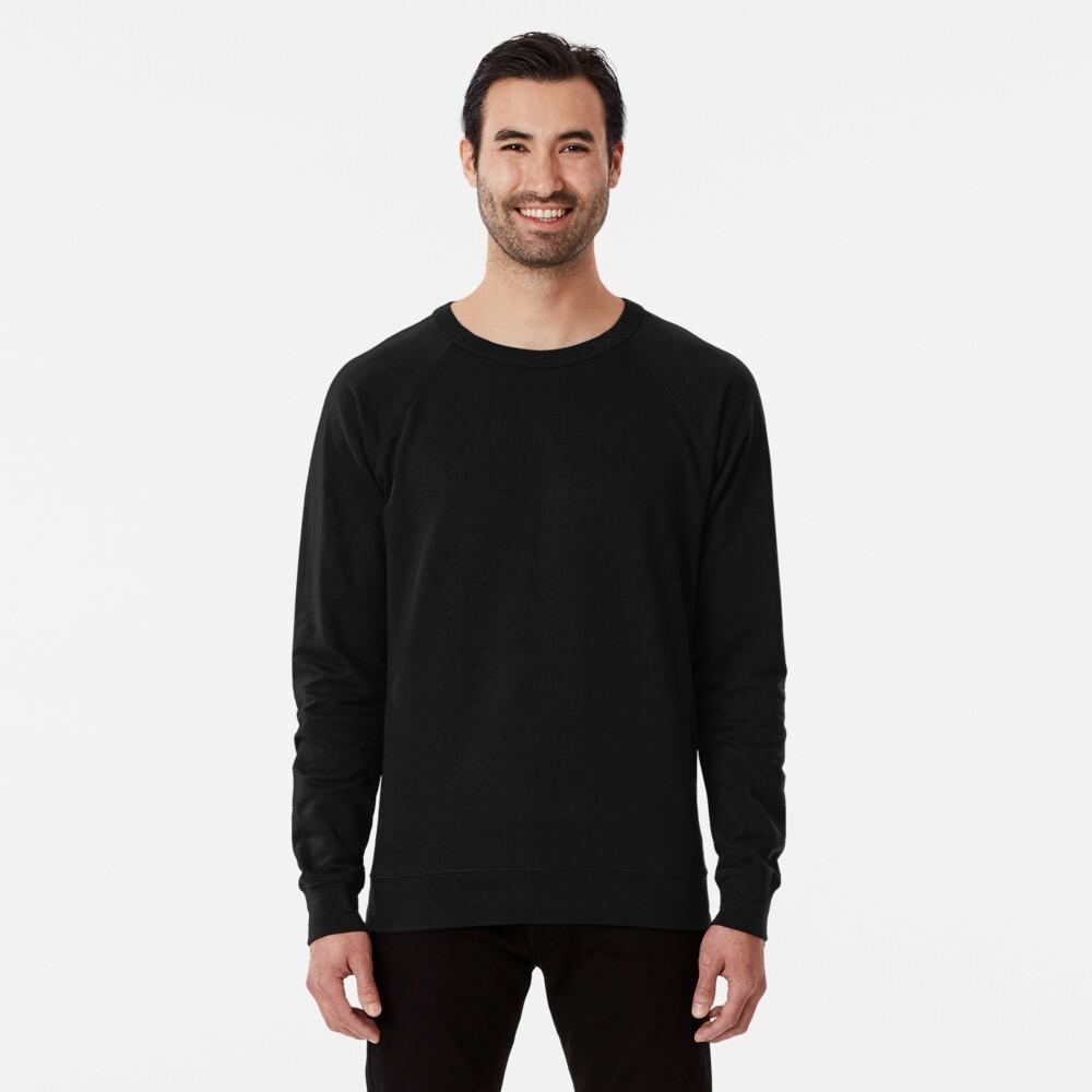 Ultimate Black Solid Color Lightweight Sweatshirt