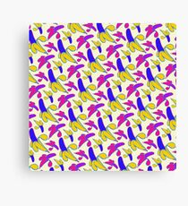Berry Berry Nanners - Pink and Yellow Canvas Print
