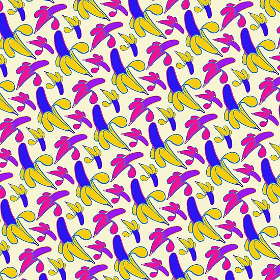Berry Berry Nanners - Pink and Yellow by Chaparralia