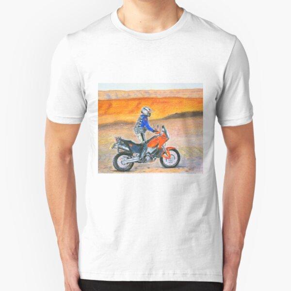 KTM 990 Adventure Dune Rider at sunset Slim Fit T-Shirt