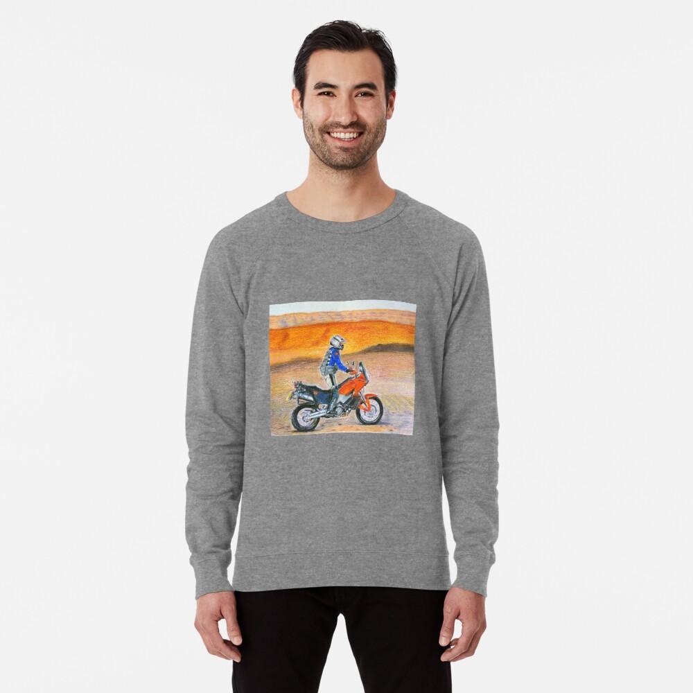 KTM 990 Adventure Dune Rider at sunset Lightweight Sweatshirt