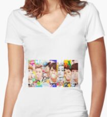 NCT DREAM-  Chewing Gum Women's Fitted V-Neck T-Shirt