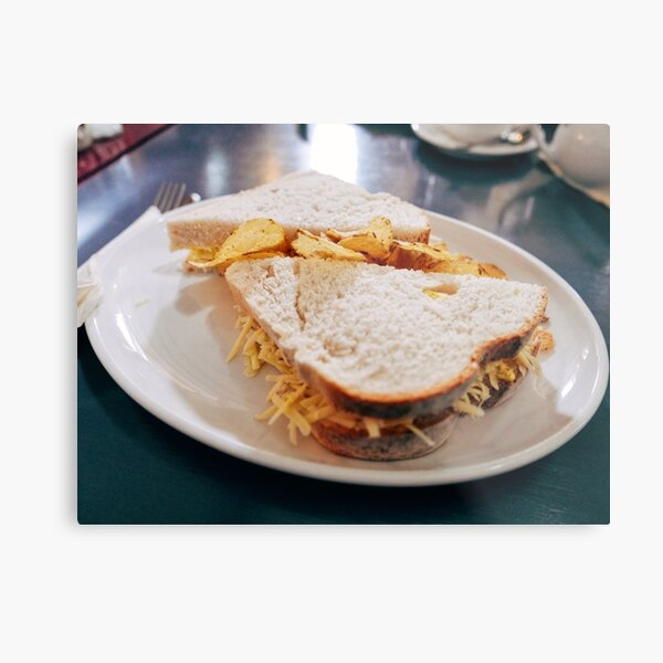 Sandwich and Crisps Metal Print
