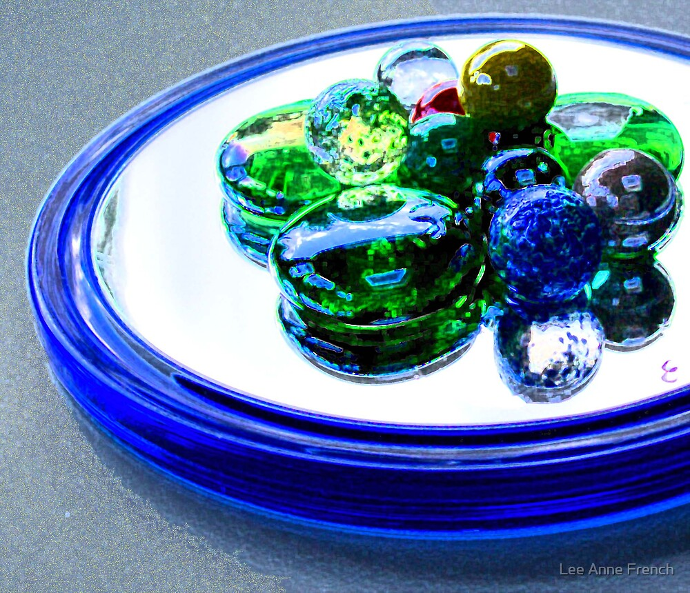 Marbles on a Mirror by Lee Anne French