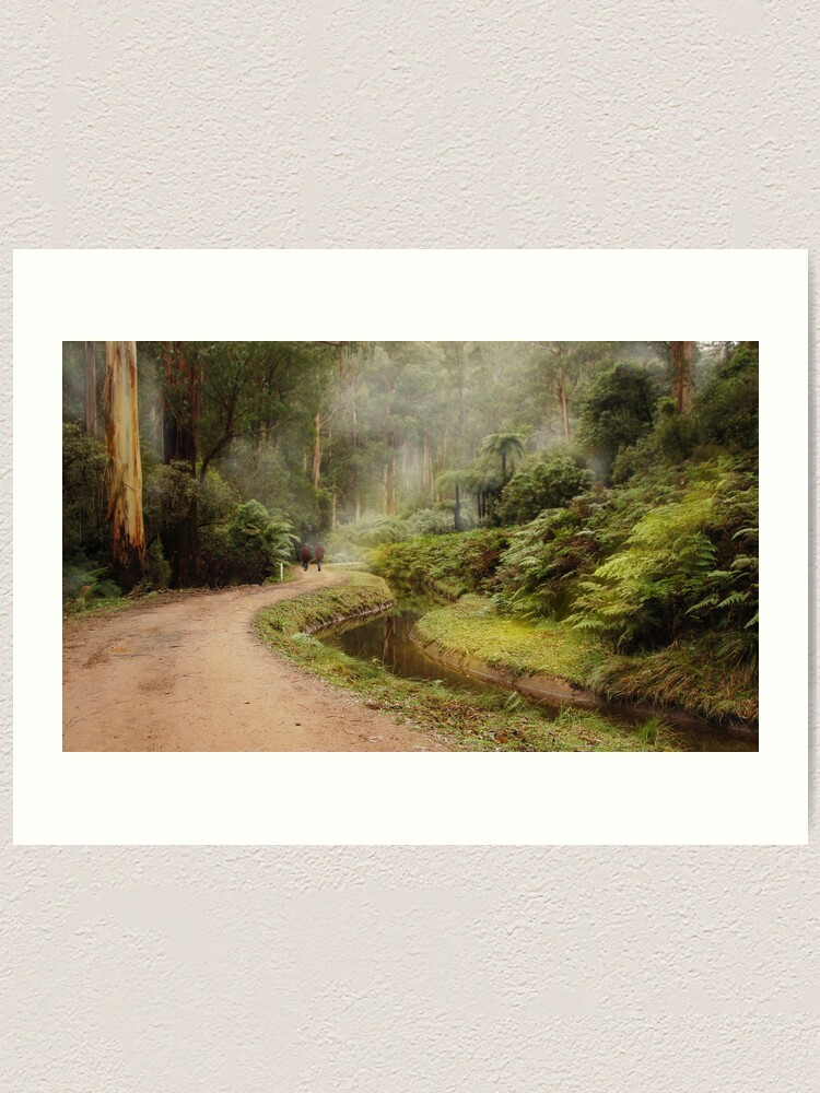 Alternate view of A walk in the forest Art Print