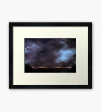 Night Strike City Lights  Framed Print