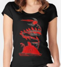 Pokemon Type Red Dragon and Volcano  Women's Fitted Scoop T-Shirt