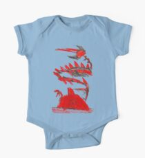 Pokemon Type Red Dragon and Volcano  One Piece - Short Sleeve