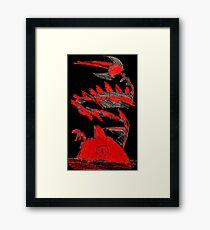 Pokemon Type Red Dragon and Volcano  Framed Print