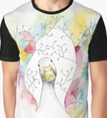 Rainbow Duck Graphic T-Shirt
