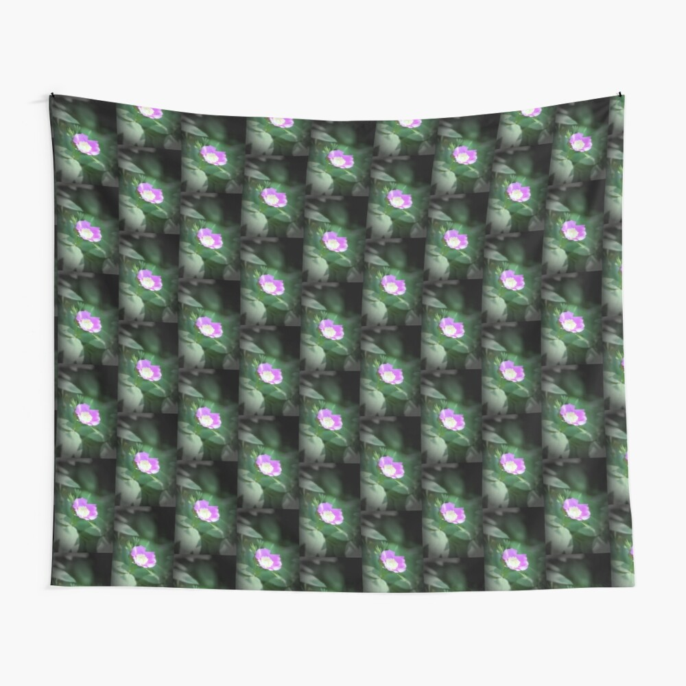 Old fashioned pink rose, near Trojan pond, Oregon Wall Tapestry