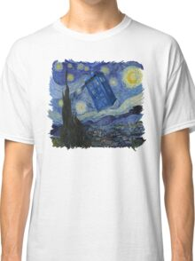 Starry Night Tardis Classic T-Shirt