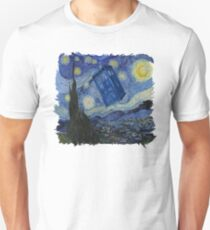 Starry Night Tardis Unisex T-Shirt
