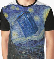 Starry Night Tardis Graphic T-Shirt