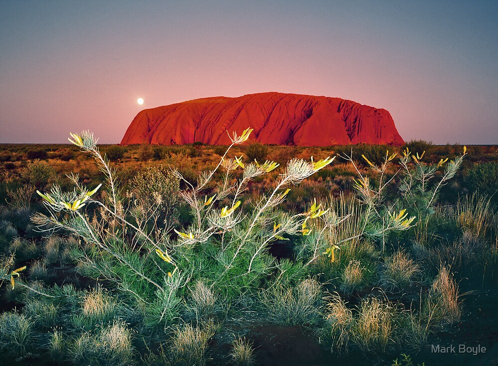 Moonrise Over Uluru by Mark Boyle