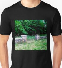 Stone wall and gate, Donegal, Ireland Unisex T-Shirt