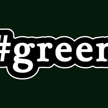 Green - Hashtag - Black & White de graphix