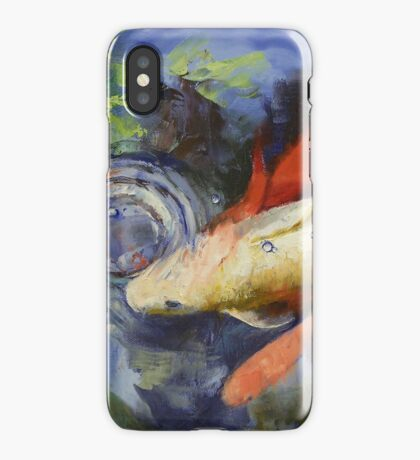 Koi and Water Ripples iPhone Case
