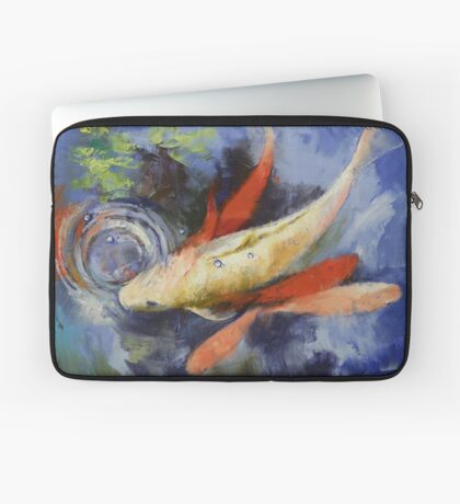 Koi and Water Ripples Laptop Sleeve