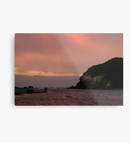Sunset, Glen Aire Beach Metal Print