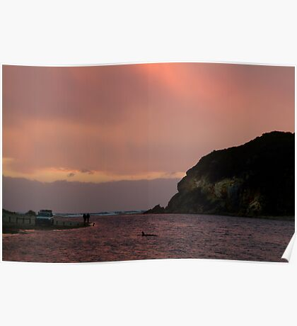 Sunset, Glen Aire Beach Poster