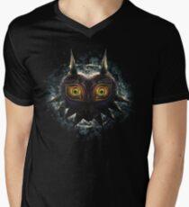 Camiseta para hombre de cuello en v The Epic Evil of Majora's Mask