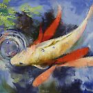 Koi and Water Ripples by Michael Creese