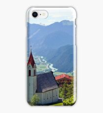Church in Alps and Inn Valley, Tyrol, Austria iPhone Case/Skin