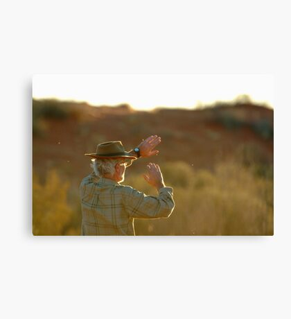 Desert Glare,Simpson Desert,Australia Canvas Print