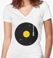 Music Everywhere Women's Fitted V-Neck T-Shirt