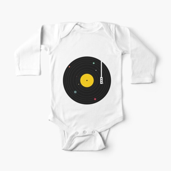 Music Everywhere Long Sleeve Baby One-Piece