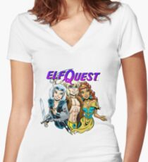 Modern trio Women's Fitted V-Neck T-Shirt
