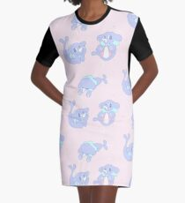 Popplios in Pink! Graphic T-Shirt Dress