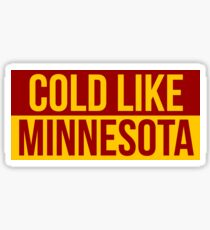 Cold Like Minnesota Graphic Sticker