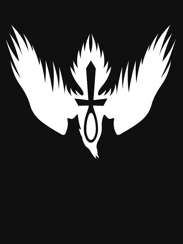 Drowning Doom Logo - White | Unisex T-Shirt