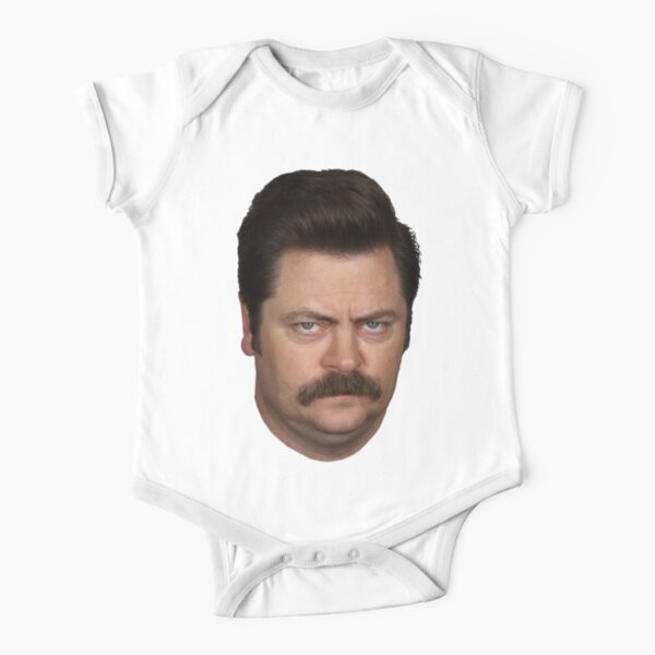 Ron Swanson Short Sleeve Baby One-Piece