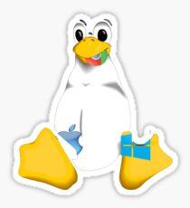 Linux is OP Sticker