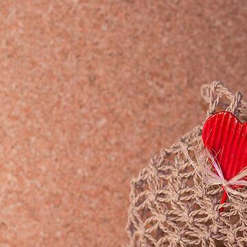 Love Background 3 - Heart, Emotional, Valentine, Wooden, Pinboard, Net, Basket by JuliaRokicka