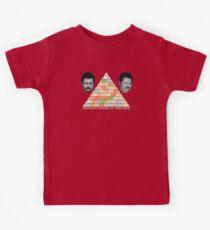 Ron Swanson's Pyramid Of Greatness Kids Tee