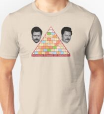 Ron Swanson's Pyramid Of Greatness Unisex T-Shirt