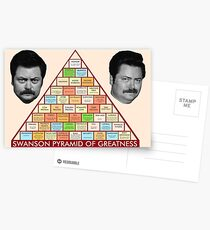 Ron Swanson's Pyramid Of Greatness Postcards