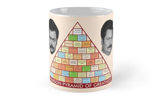 Ron Swanson's Pyramid Of Greatness by drtees