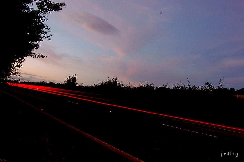 night road by Allan Maxwell