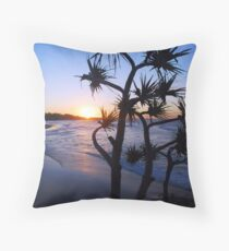 Cylinder Beach, North Stradbroke Island Throw Pillow