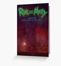 Rick and morty Space Galexy city  Greeting Card