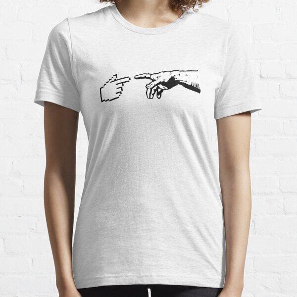 Dios y las manos de la máquina Camiseta esencial
