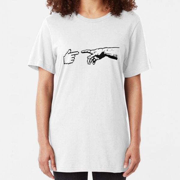 God and The Machine Hands Slim Fit T-Shirt