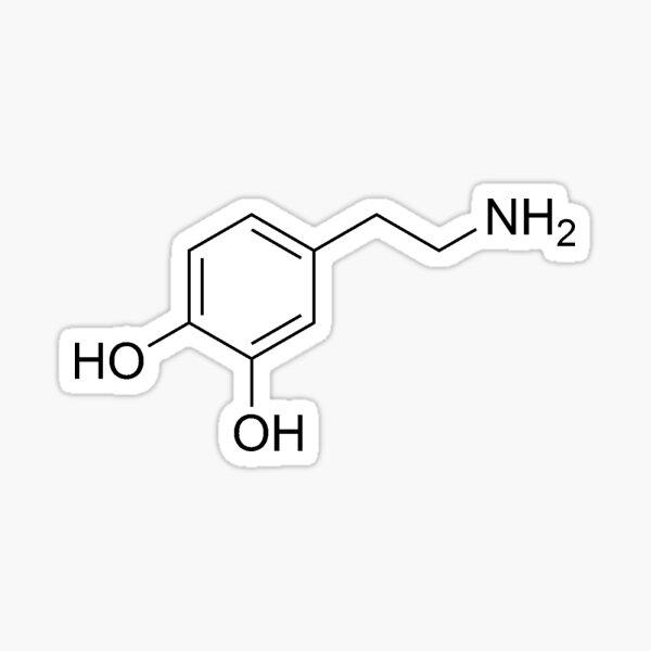 Dopamine Molecular Structure Sticker