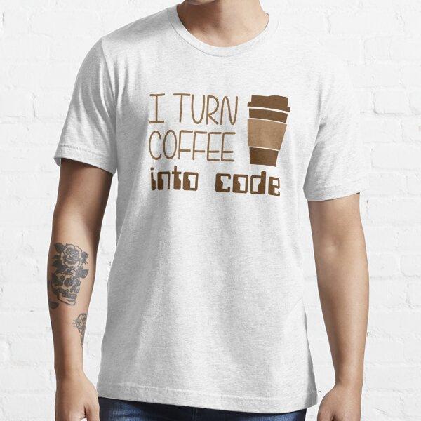 Convierto el café en código de programación Camiseta esencial