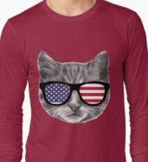 Patriotic Cat Kitten  T-Shirt
